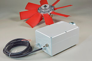 CLEANFIX control electronics E-box for pneumatic fans without a compressed air system in the vehicle | © Hägele GmbH - Cleanfix