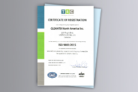 ISO 9001 Certification of the Canadian branch | © Hägele GmbH - Cleanfix